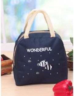 1Pc Lunch Bag Cartoon Pattern Thickened Insulated Bag