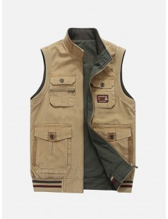 Mutil Functional Pockets Dual Wearable Casual Outdoor Fishing Vest for Men