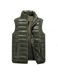 Men Sleeveless Thicken Warm Winter Shoulder Down Vest