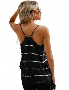 Black To Dye For Lace Trim Tank