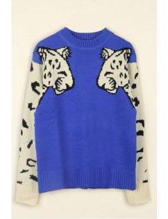 Blue Lion Crew Neck Long Sleeve Casual Pullover Sweater