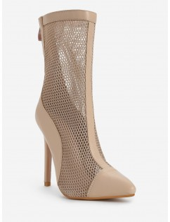 Pointed Toe High Heel Fashion Boots - Apricot 40