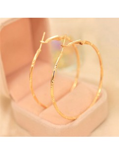 1 Pair Women Fashion Big Circle Earrings Hoop Dangle Ear Clips Make Up Jewelry