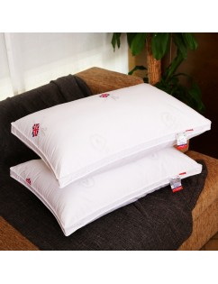 1Pc Bed Pillow Core Simple Flag Pattern Soft Rectangle Sleeping Pillow