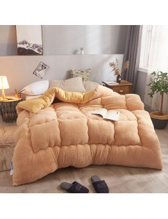 1 Piece Comforter Simple Style Solid Color Soft Quilt