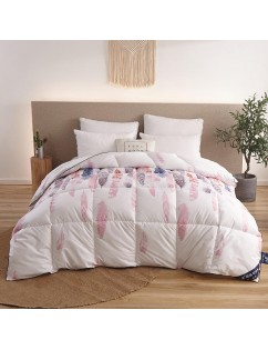 1 Piece Comforter Core Colored Feathers Pattern Thick Winter Quilt