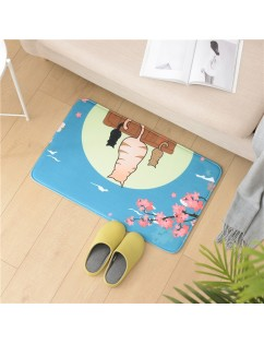 1 Piece Floor Mat Modern Simple Style Adorable Cartoon Anti-Skidding Water Absorbing Rug