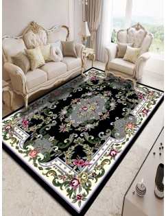 1 Pc Mat Stylish Modern Simple Floral Pattern Bedroom Living Room Washable Soft Carpet