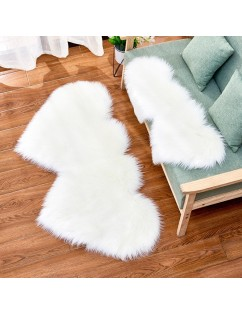 1Pc Rug Modern Simple Solid Color Heart-shaped Cushion