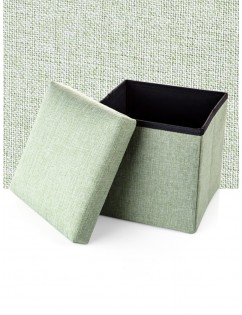 1 Pc Creative Stool Storage Box Simple Style Solid Color Folding Storage Stool