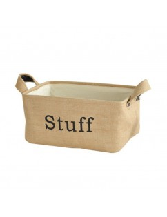 1 Piece Jute Storage Basket Pastoral Style Clothes Sundries Container