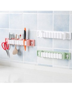1 Piece Wall Rack Plastic Multi-Functional Kitchen Pasted Traceless Storage Rack