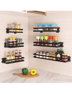 1 Piece Shelf Simple Solid Color Punch Free Wall Shelf Kitchen Organizer